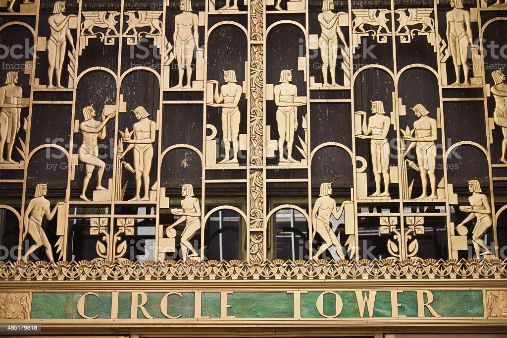 La façade de la tour circulaire à Indianapolis photo libre de droits