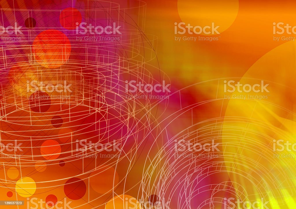 Circle wireframe 2- a series stock photo
