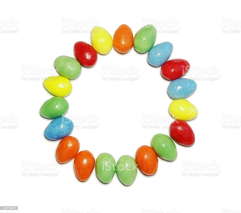 Circle with Jellybeans royalty-free stock photo