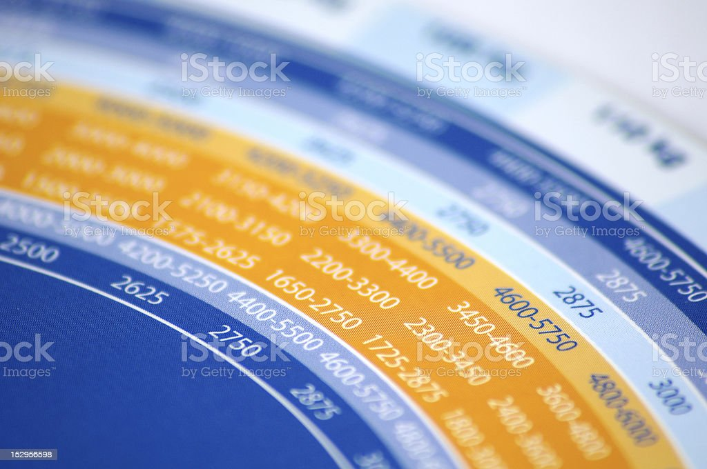 Circle with numbers royalty-free stock photo