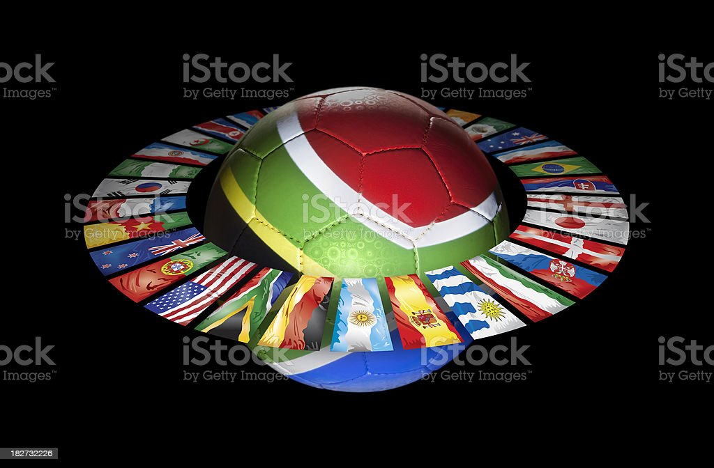 Circle with participants of world soccer championship 2010 royalty-free stock photo