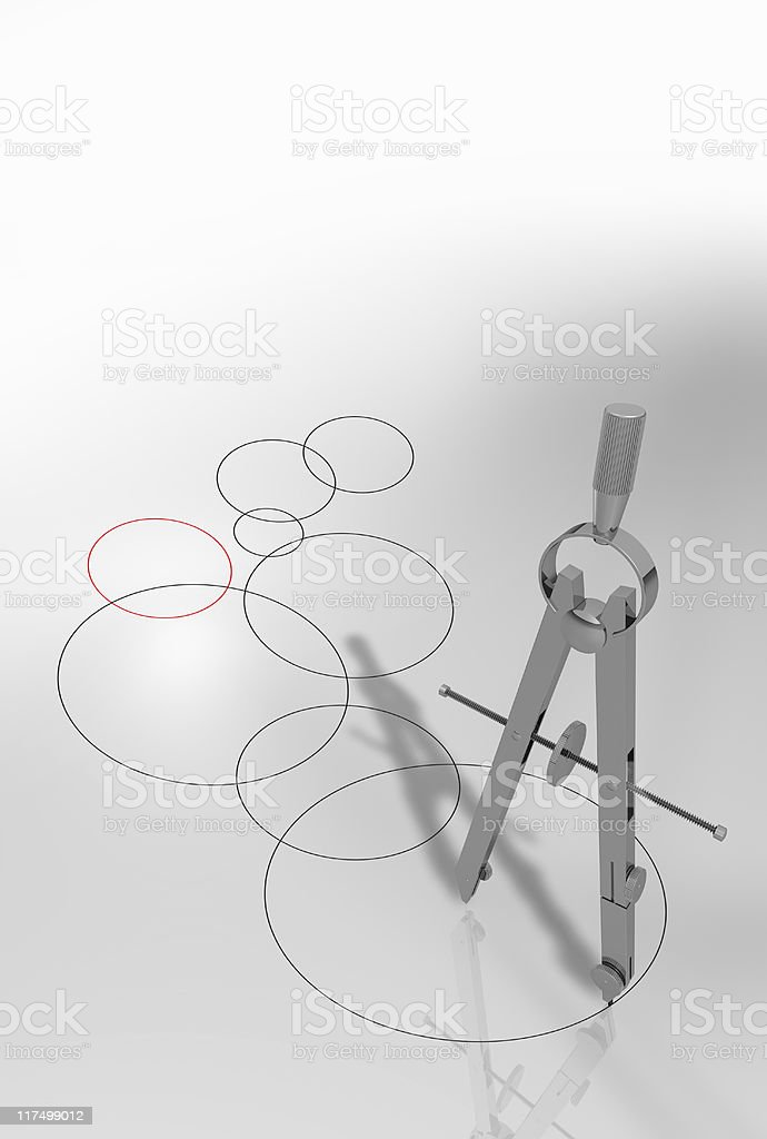 circles and compass royalty-free stock photo