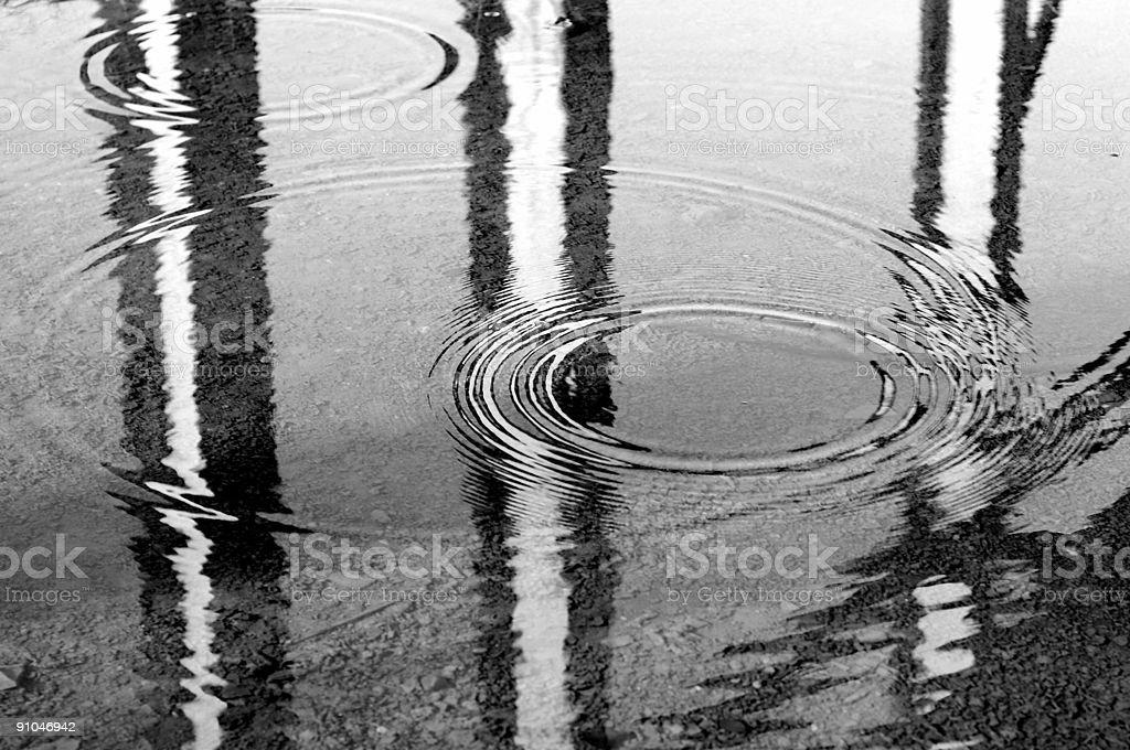 Circles on water royalty-free stock photo