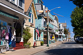 Circuit Avenue in Oak Bluffs, Martha's Vineyard, Massachusetts, USA.