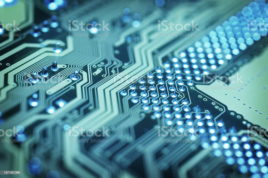 Circuit Board - Arrow royalty-free stock photo