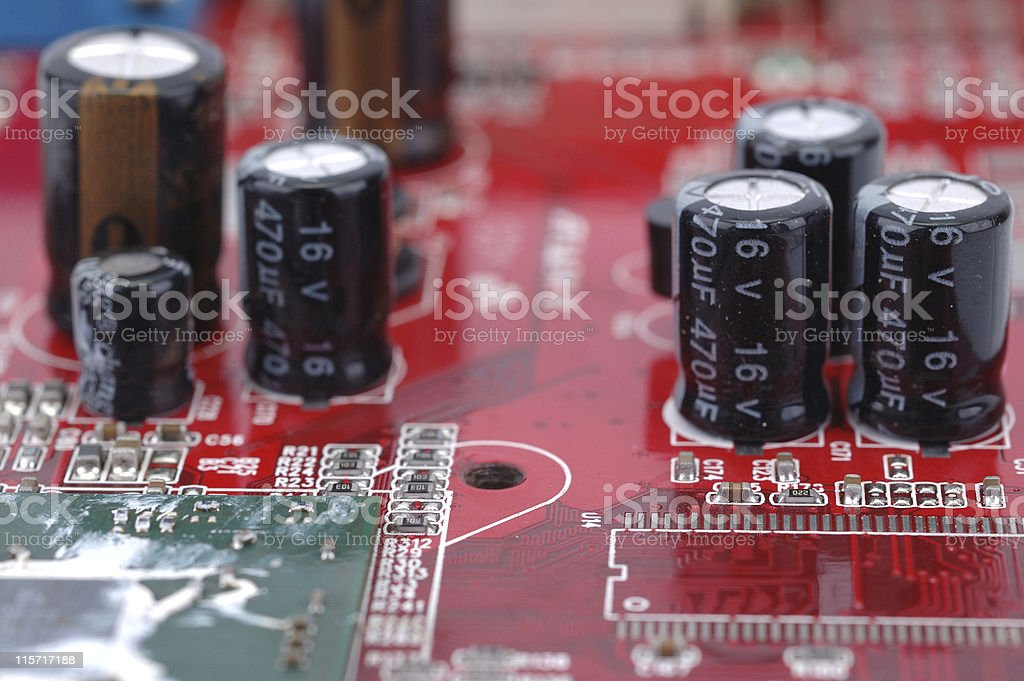 circuit board close up royalty-free stock photo