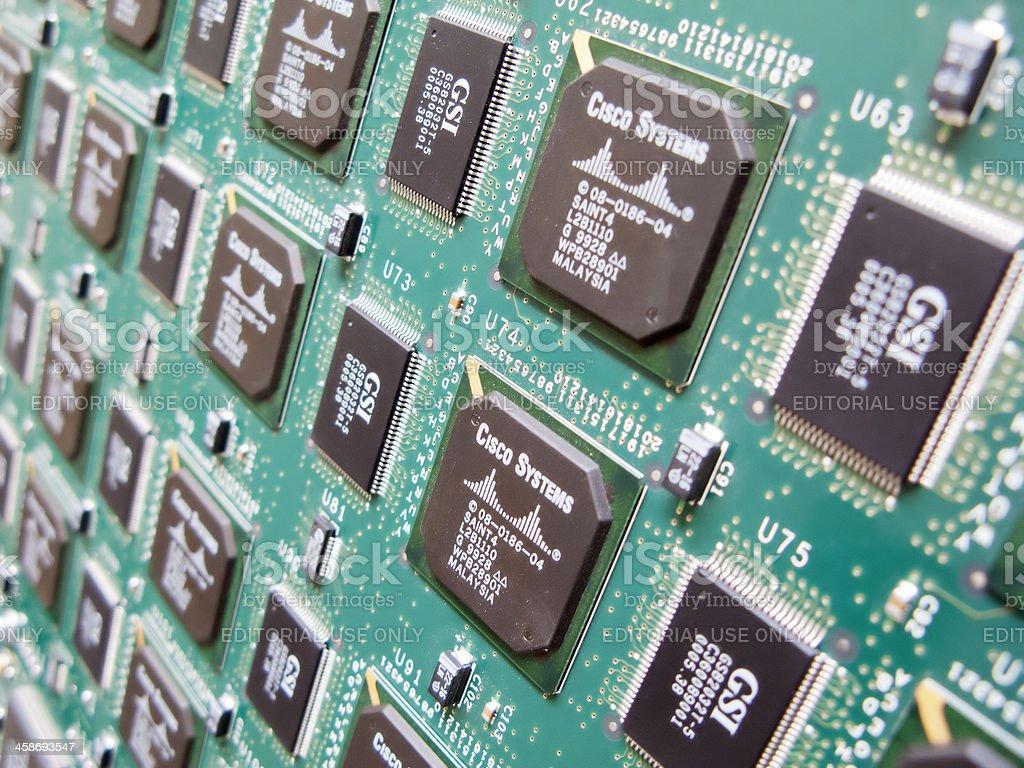 Circuit board close up royalty-free stock photo