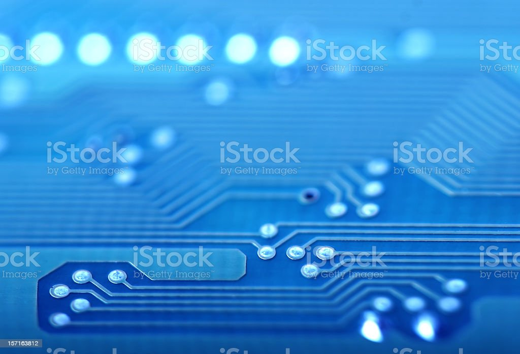 Circuit Board close-up royalty-free stock photo