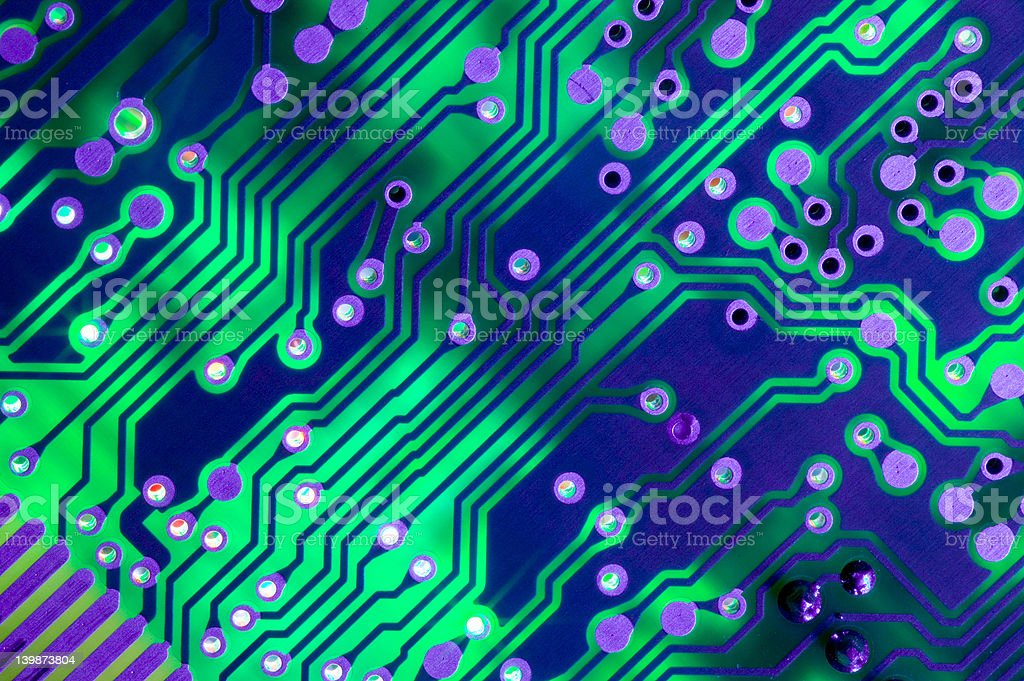 Circuit Board Connections royalty-free stock photo