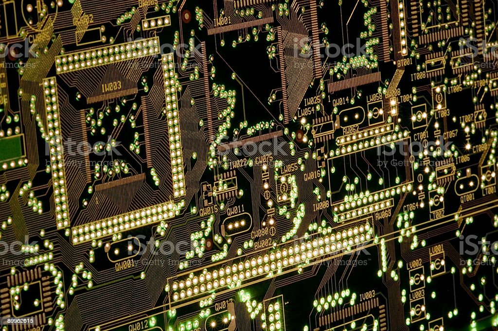 circuit board lightshow royalty-free stock photo