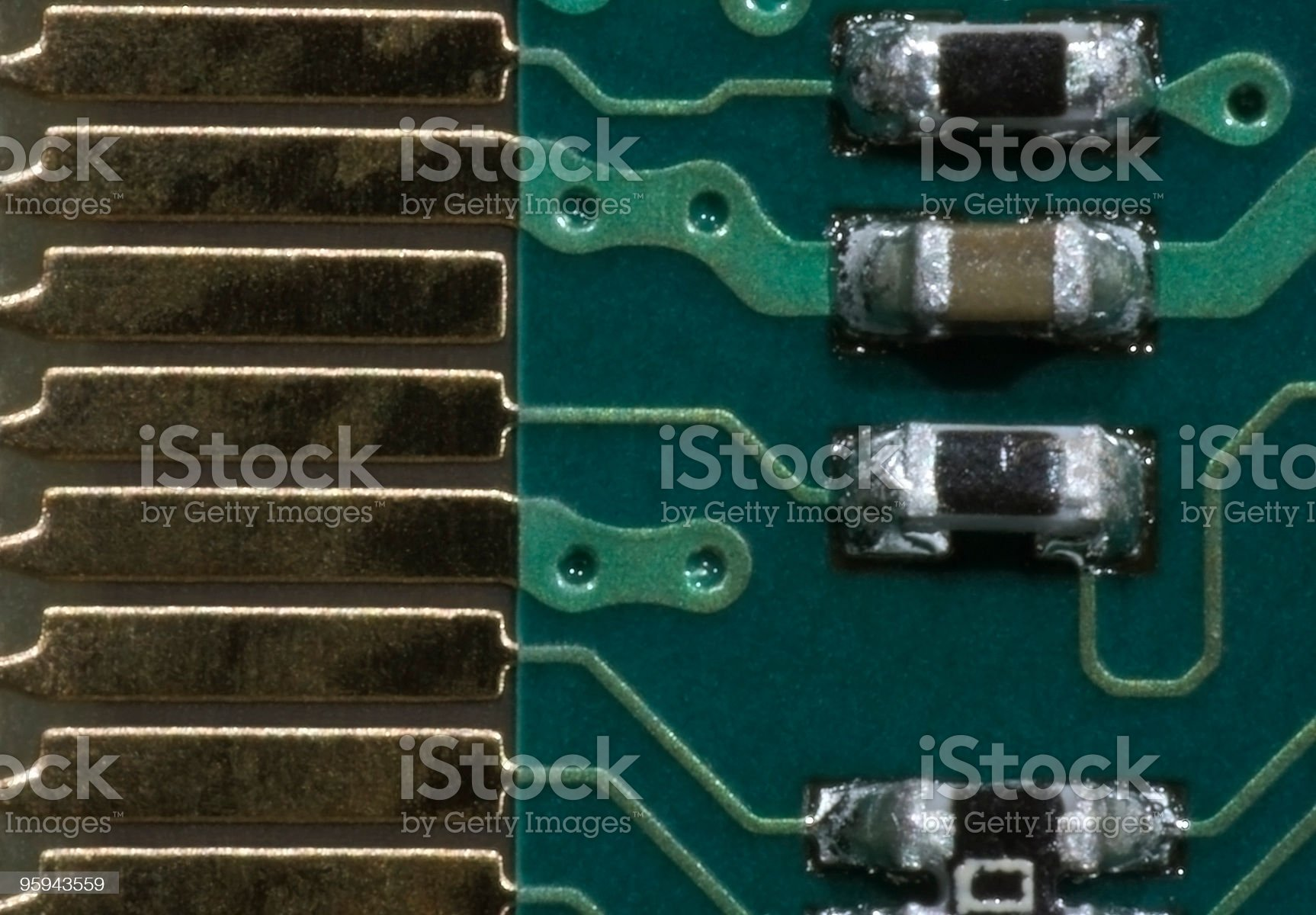 circuit board macro royalty-free stock photo