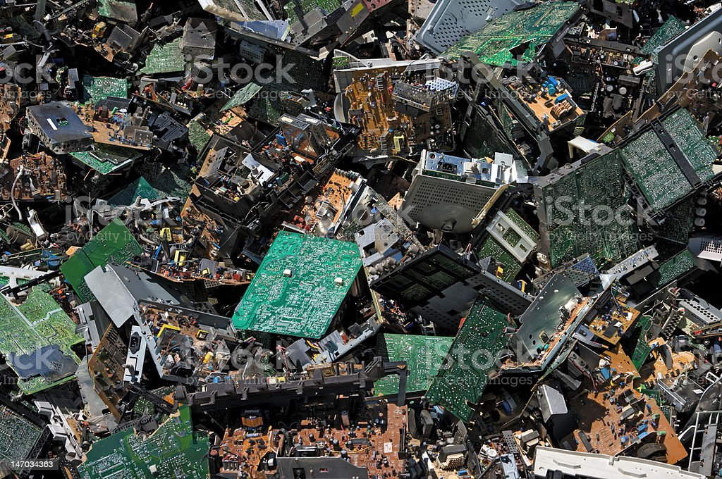 Circuit board pile royalty-free stock photo