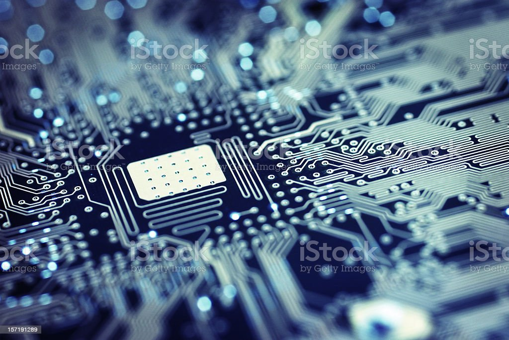 Circuit Board - Space stock photo