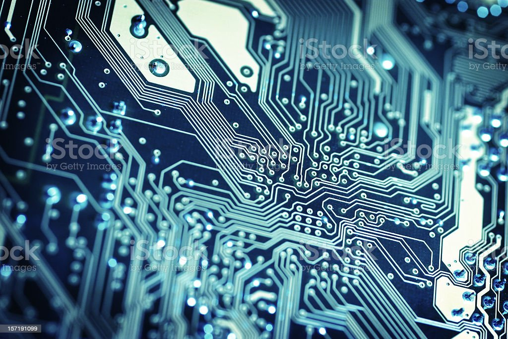 Circuit Board - Winter royalty-free stock photo