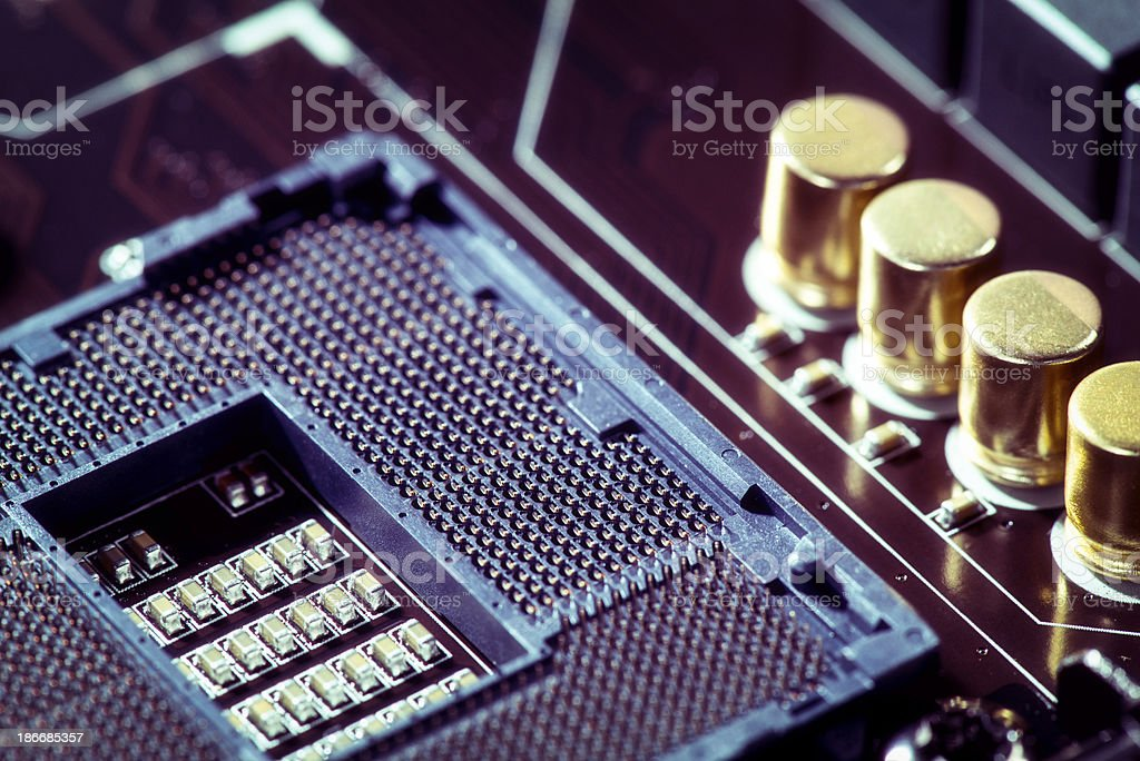 Circuit Board with CPU Socket royalty-free stock photo