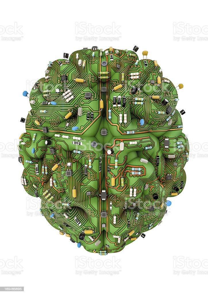 Circuit brain royalty-free stock photo