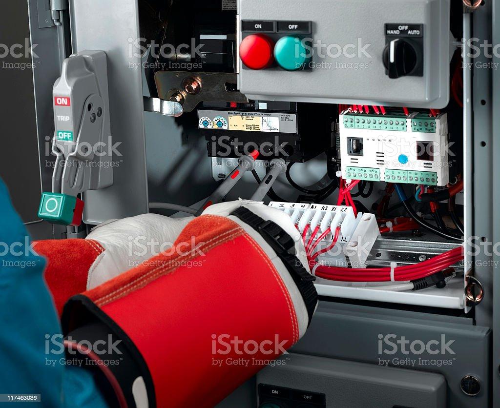 Circuit Breaker Testing royalty-free stock photo