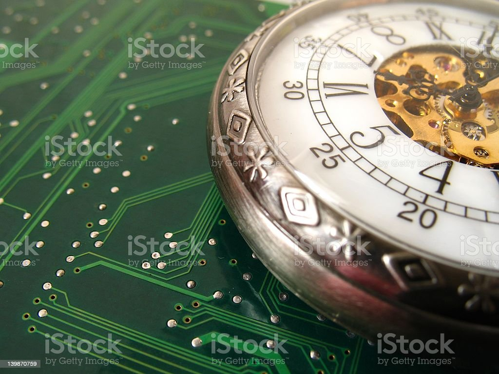 circuit clock royalty-free stock photo