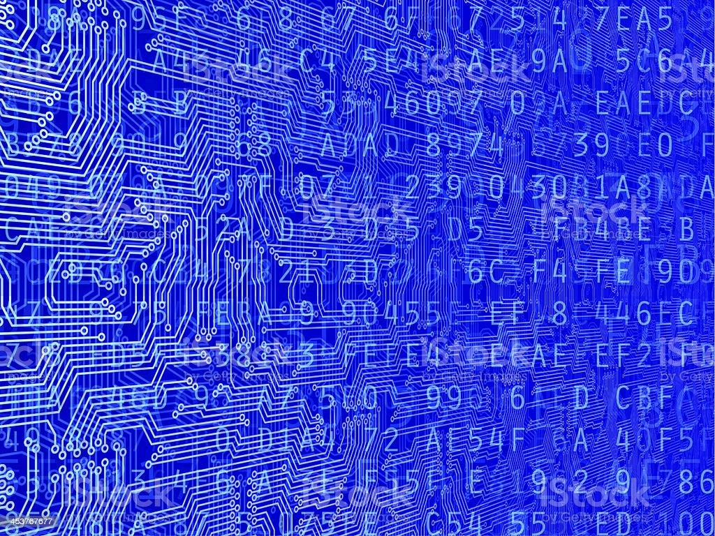Circuit Data Background stock photo