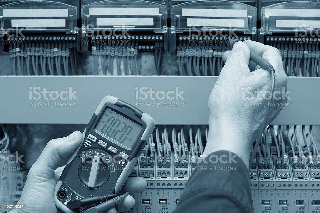 Circuit testimg royalty-free stock photo