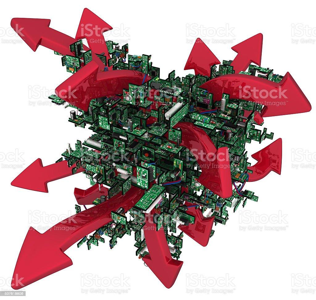 Circuits Abstract Arrows stock photo