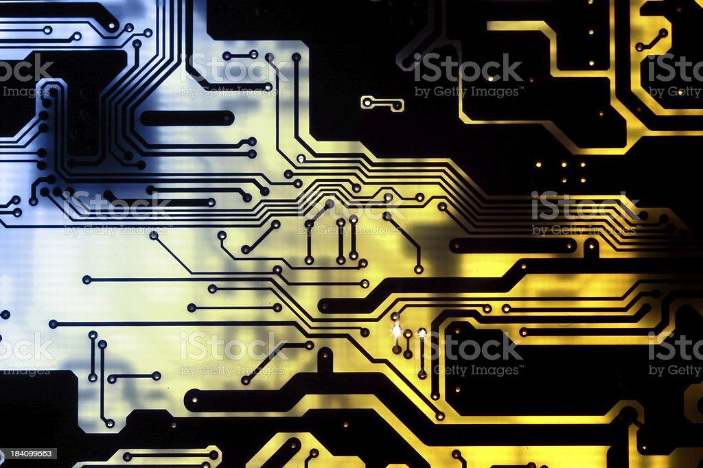 Circuits - computer motherboard royalty-free stock photo