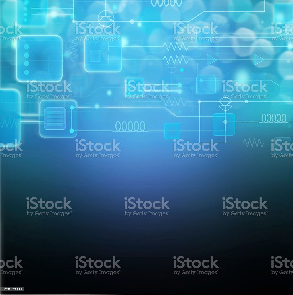 Circuits, Technology Background. stock photo