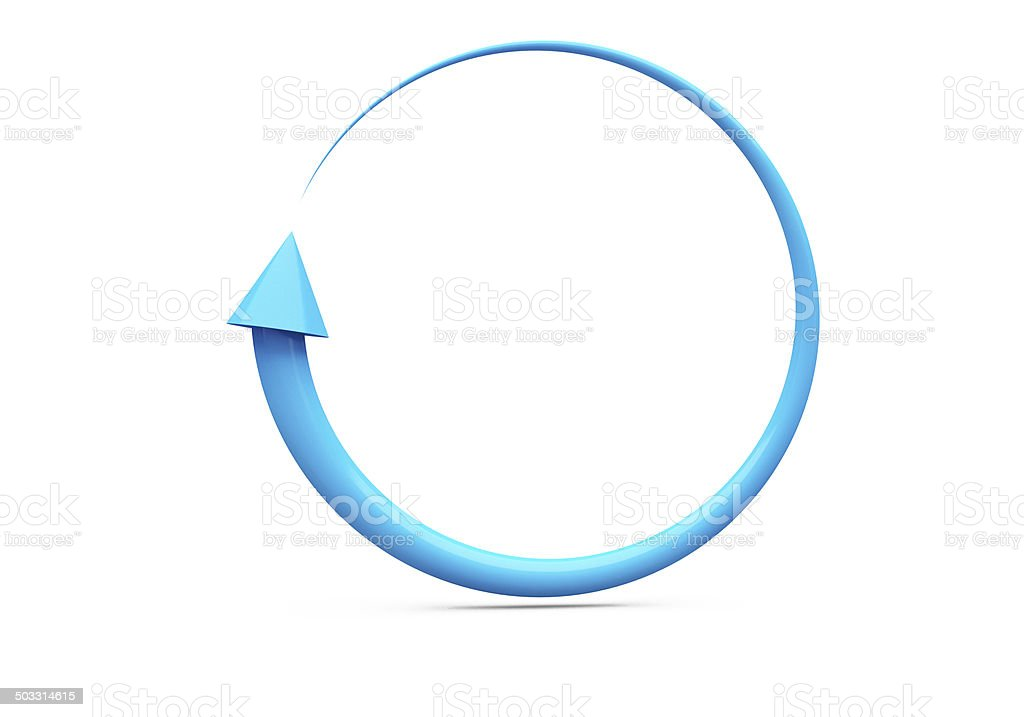 Circular Blue Cycle Arrow stock photo
