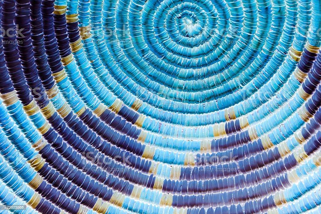 Circular Blue Native American Weave Background stock photo