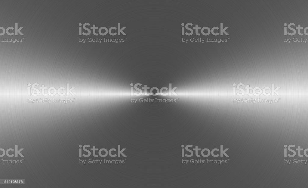 Circular brushed aluminum background stock photo