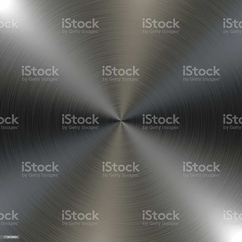 Circular Brushed Metal Background royalty-free stock photo