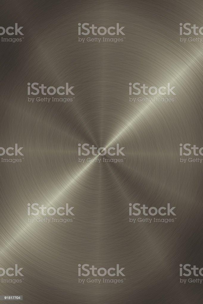 Circular Brushed Metal Background royalty-free stock photo
