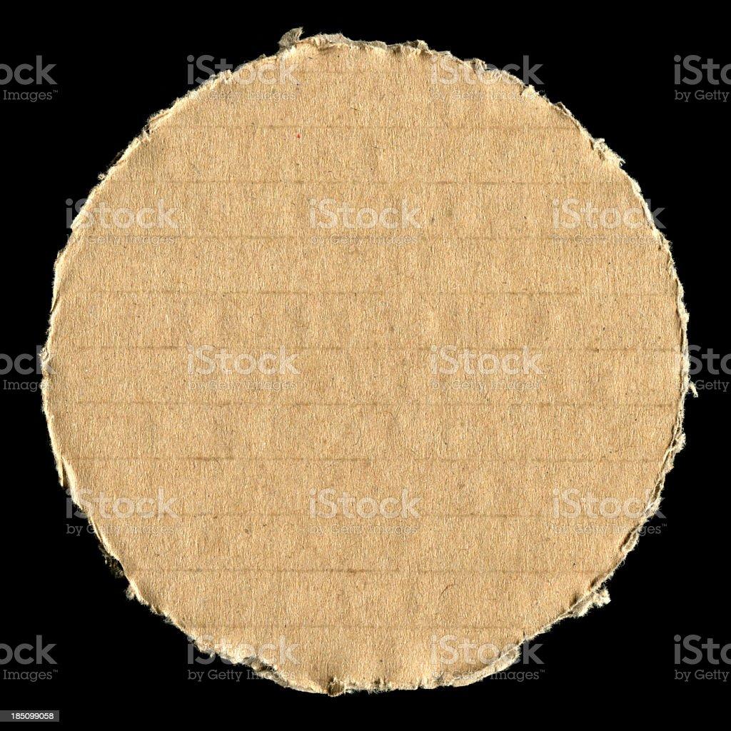 Circular cardboard list textured background royalty-free stock photo