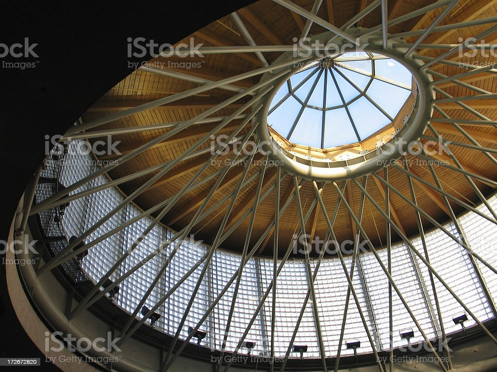 Circular Ceiling w/ Skylight royalty-free stock photo