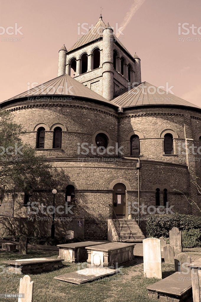 Circular Church in Sepia royalty-free stock photo