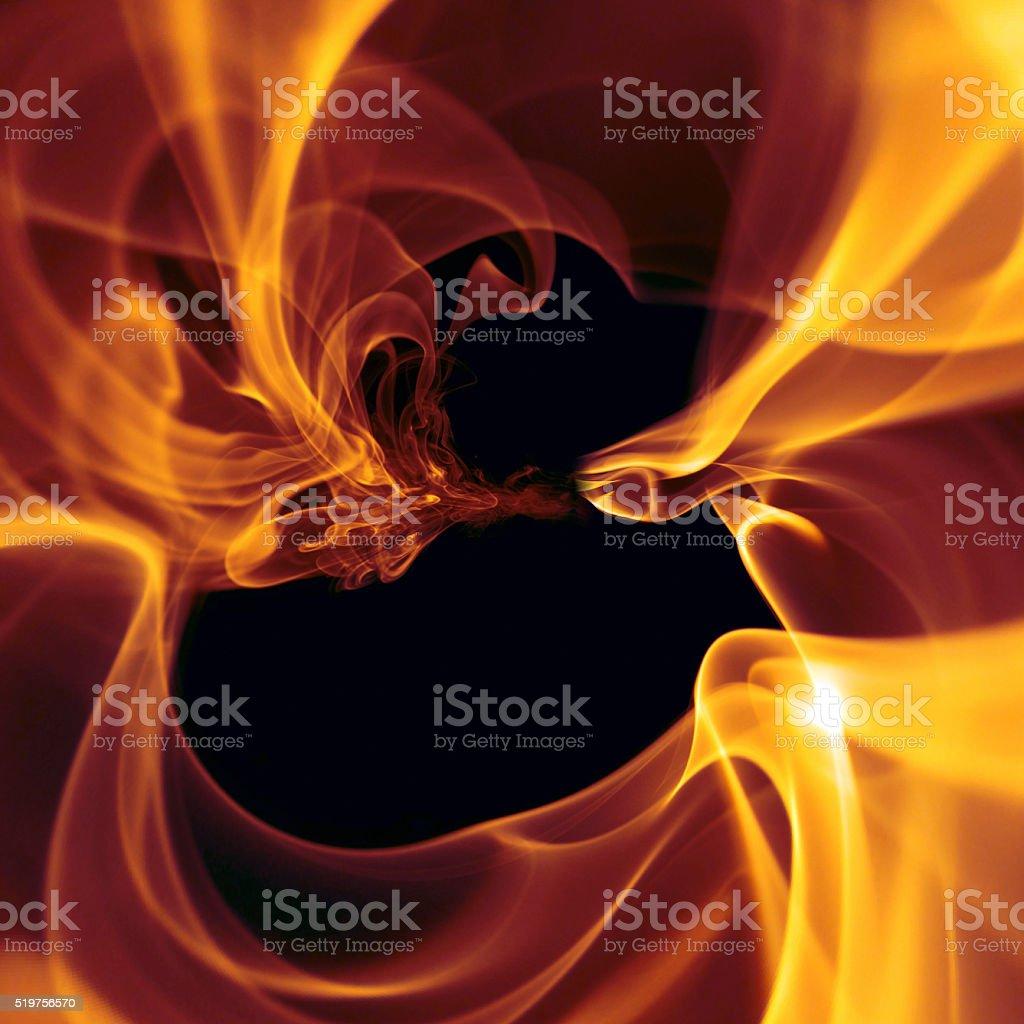 Circular Flame stock photo