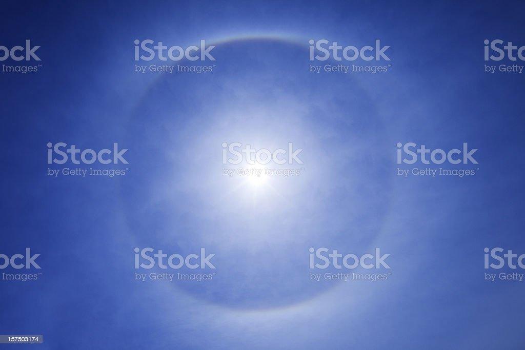 Circular Halo Around the Sun stock photo