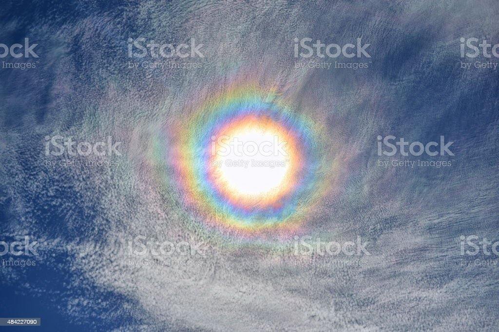 Circular halo stock photo