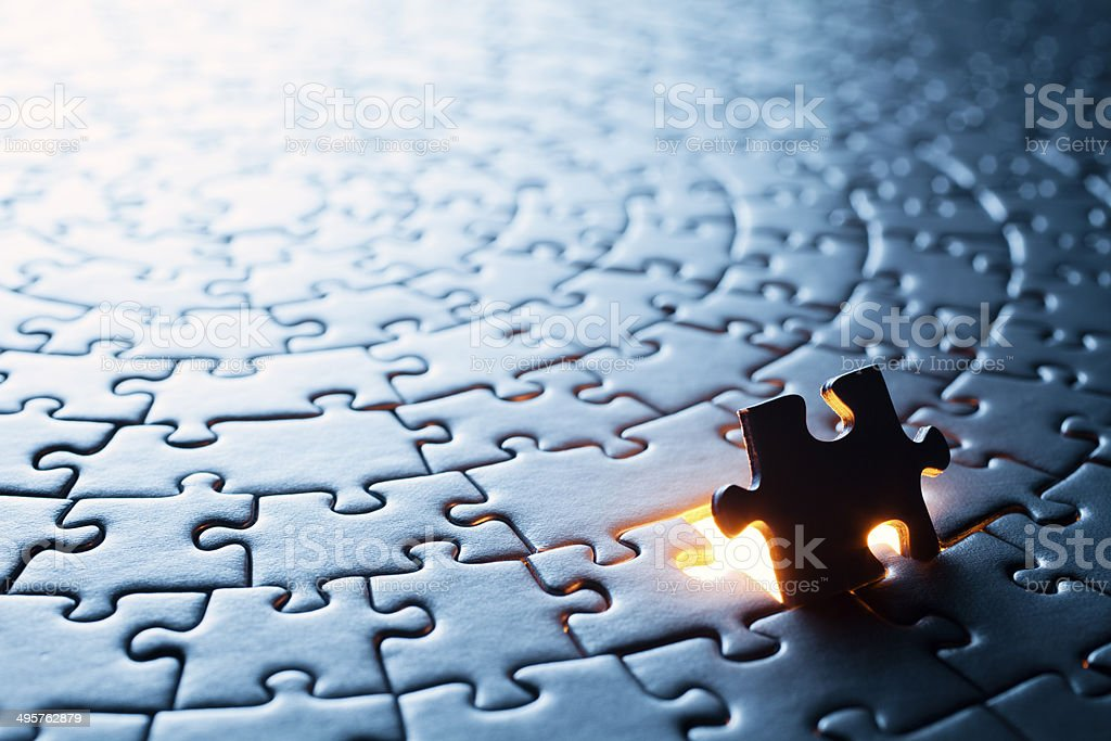 Circular Jigsaw Puzzle royalty-free stock photo