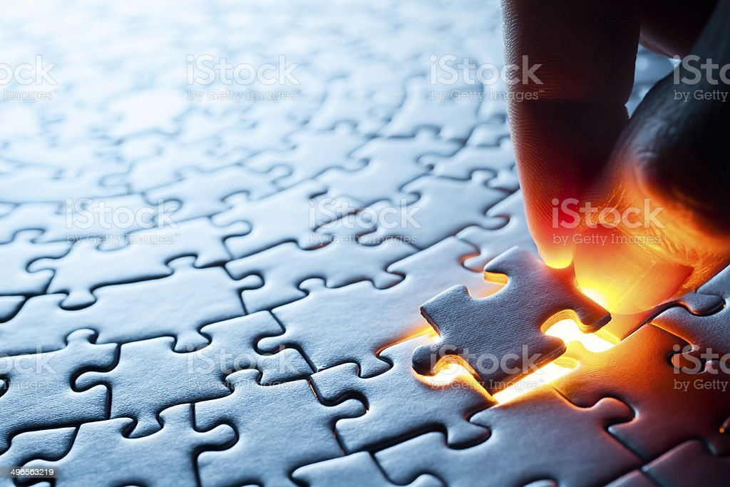 Circular Jigsaw Puzzle stock photo