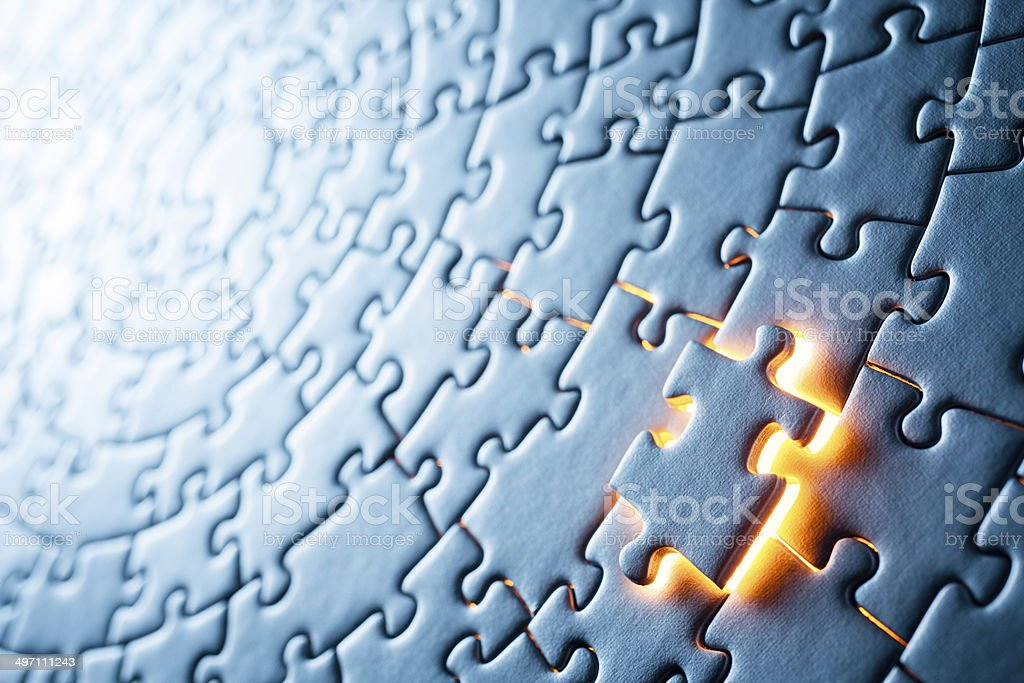 Circular Jigsaw Puzzle stock photo