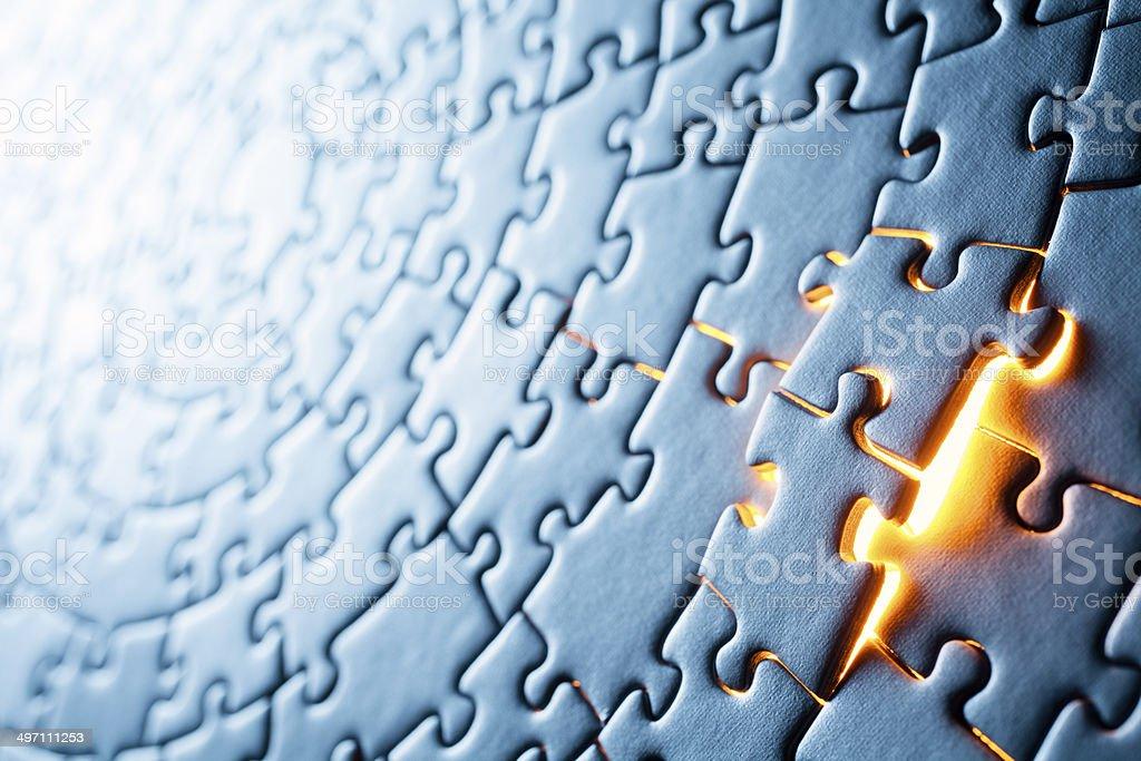 Circular Jigsaw Puzzle royalty-free stock photo