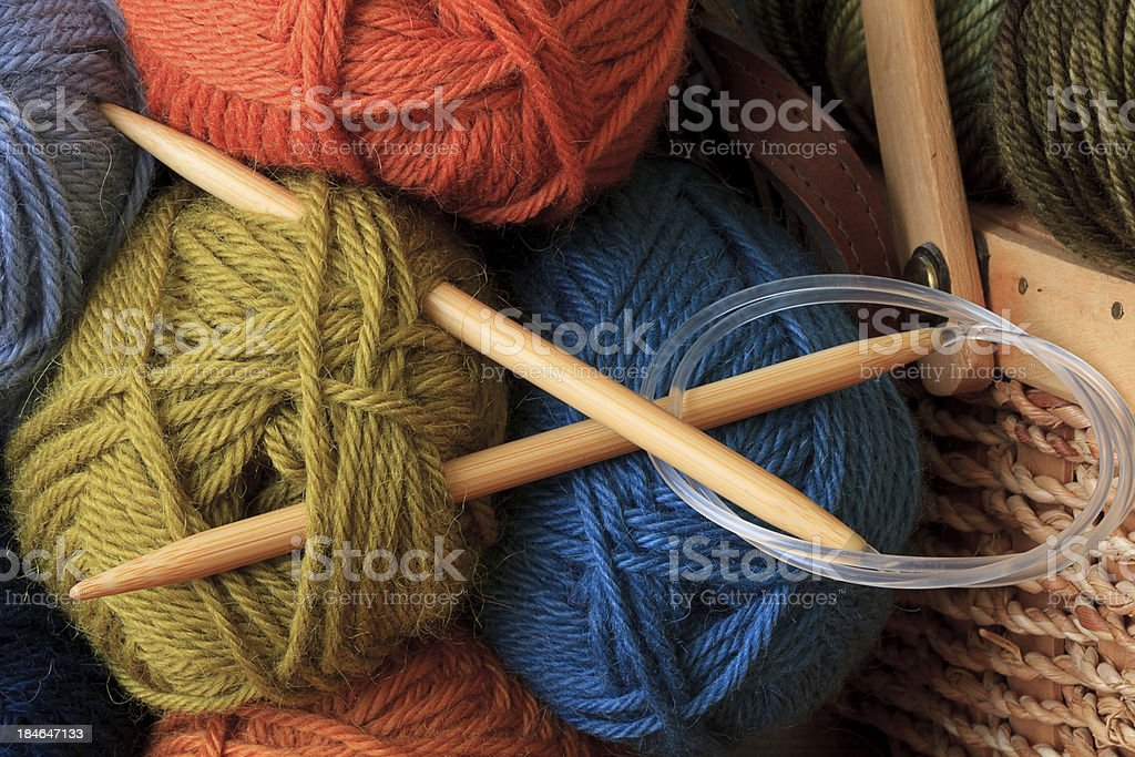 Circular Knitting Needles stock photo