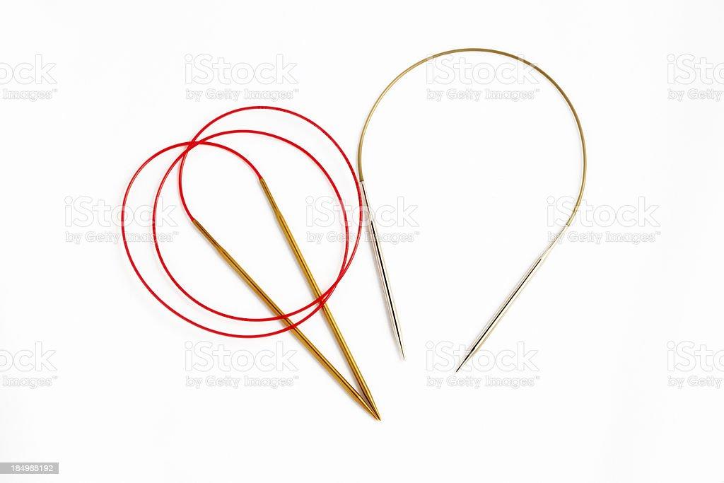 circular knitting needles royalty-free stock photo