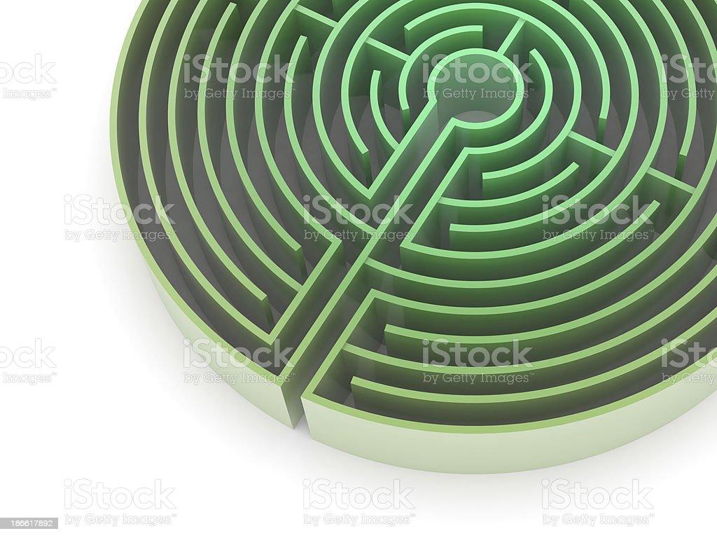 Circular Labyrinth royalty-free stock photo