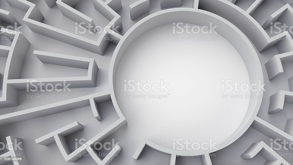 Circular Maze (center) stock photo
