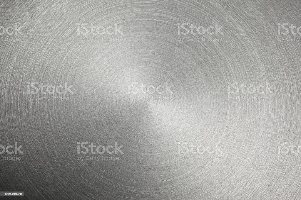 Circular Metal Brushed Texture stock photo