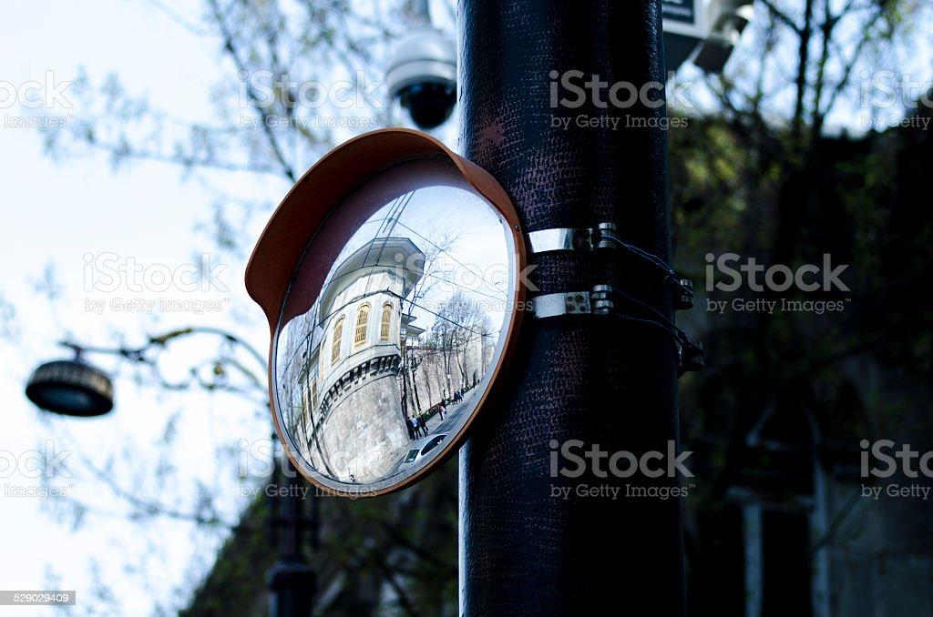 Circular Mirror stock photo