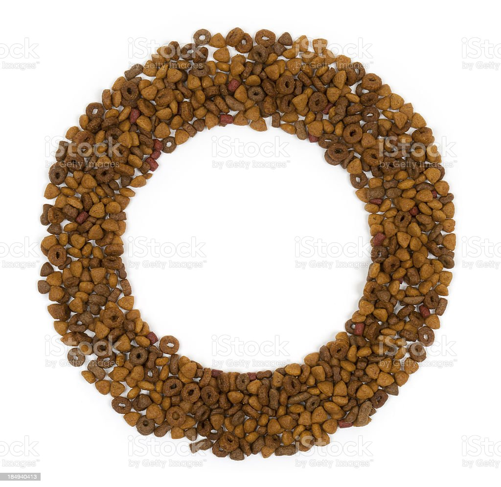 Circular Pet Food Picture Frame royalty-free stock photo