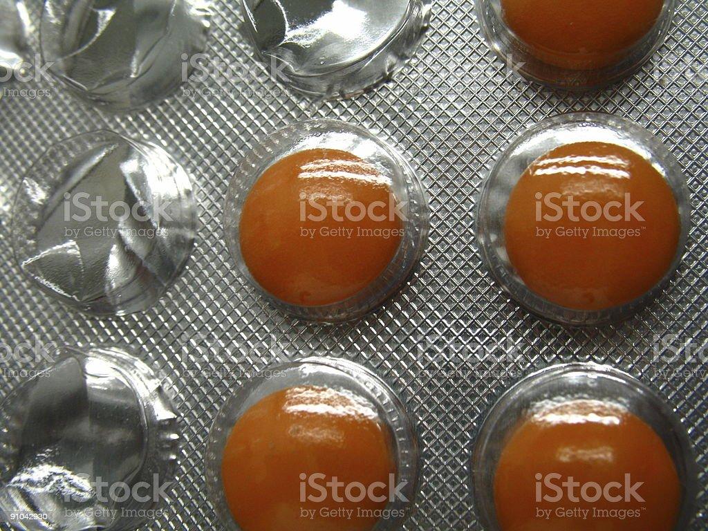 circular pills royalty-free stock photo